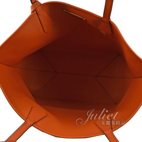 茱麗葉精品【下殺低價】MICHAEL KORS PVC 肩背兩面托特包.咖/橘