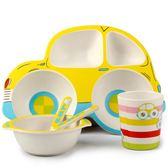 竹纖維兒童餐具套裝防摔餐盤分格環保卡通創意可愛幼兒園小孩餐盤 居享優品