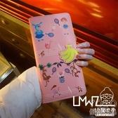 錢包 韓國可愛印花卡通長款護照包原宿少女皮革學生女士錢包證件包卡包  『優尚良品』
