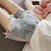 牛仔短褲—高腰牛仔短褲女夏裝寬鬆韓版顯瘦胖mm加肥加大碼闊腿200斤熱褲潮 依夏嚴選