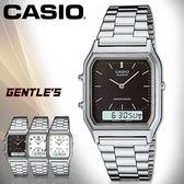 CASIO 卡西歐 手錶專賣店 AQ-230A-1D 男錶 黑面  雙顯錶 不鏽鋼錶帶 日期 碼表 鬧鈴 兩地時間 生活防水