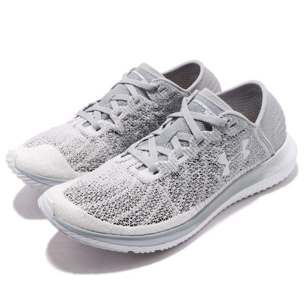 Under Armour UA 慢跑鞋 Threadborne Blur 灰 白 避震透氣 運動鞋 女鞋【PUMP306】 3000098102