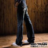 BIG TRAIN 袋蓋配布繡花垮褲-女-中藍
