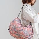 可摺疊便攜購物袋收納包包女旅行旅游短途超輕便短期出游手提出行 小時光生活館