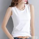 熱賣吊帶背心2021新款春夏季吊帶背心女外穿寬鬆打底韓版白色T恤女潮 曼慕