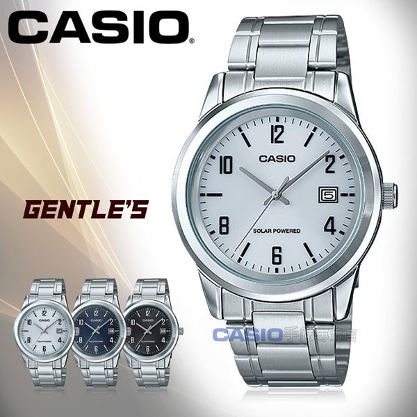 CASIO 卡西歐 手錶專賣店 MTP-VS01D-7B 男錶 不鏽鋼錶帶  太陽能防水 日期顯示
