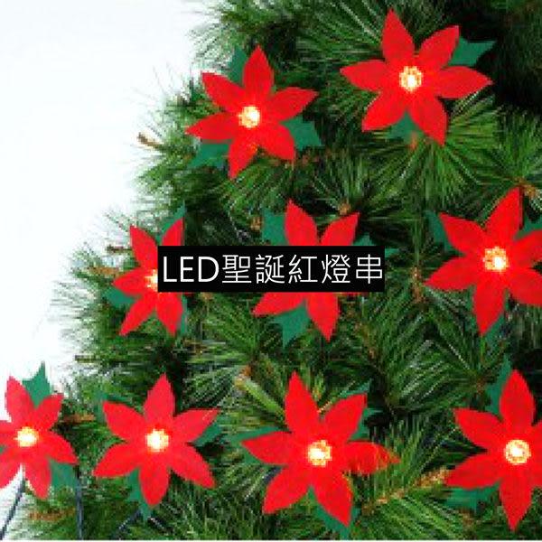 聖誕燈LED燈20燈聖誕紅造型燈串