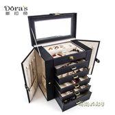 多拉奇多功能首飾盒大容量公主歐式韓國戒指盒木質飾品首飾收納盒MBS「時尚彩虹屋」