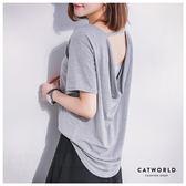 Catworld 正韓空運*挖空美背垂墜感上衣【11405878】‧F