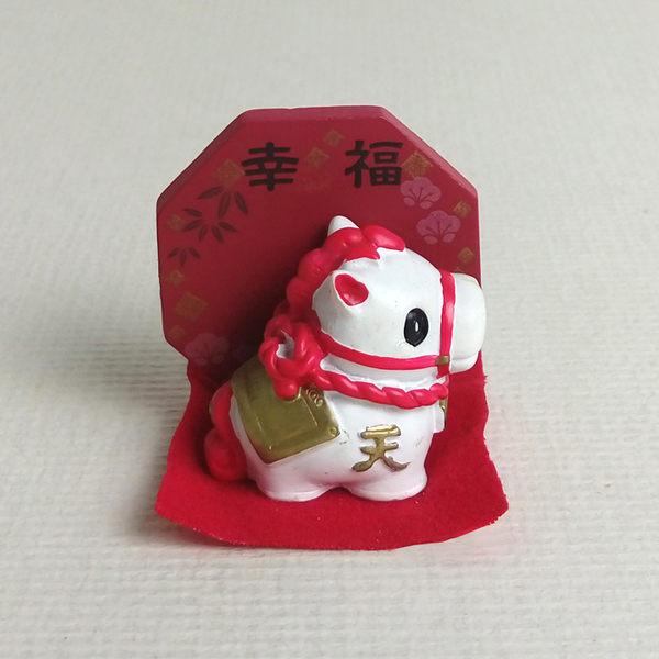 日本發掘名人 開運鏡-祈願天馬開運擺飾(共4款)幸福 -紅色