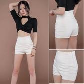 短褲女 新款韓版時尚修身顯瘦高腰褲子同款熱褲 莎瓦迪卡