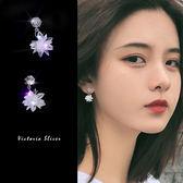 925純銀針  韓國優雅氣質  冰花 耳環-維多利亞190408