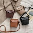 特賣 ins風包包女新款復古森系時尚水桶包網紅質感單肩斜挎小皮包
