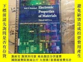 二手書博民逛書店Electronic罕見Properties of Materi