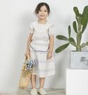 日系點點雕花圓領洋裝 春夏童裝 女童洋裝 女童長版 女童連身裙 女童傘裙