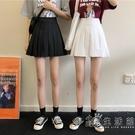 白色百褶裙女夏季2021新款半身裙小個子包臀短裙高腰a字裙子ins潮 小時光生活館