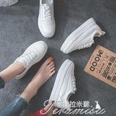 小白鞋 厚底小白鞋女內增高夏季新款百搭韓版休閒學生街拍女板鞋子女  新年下殺