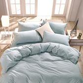 床包枕套 單人床包組 色織水洗棉 法蘭西[鴻宇]台灣製2113