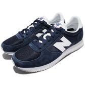 New Balance 復古慢跑鞋 220 NB 藍 白 麂皮 尼龍 運動鞋 男鞋【PUMP306】 U220NVD