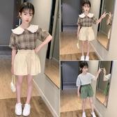 女童夏套裝 女童夏裝套裝2020新款兒童夏季韓版洋氣中大童12歲女孩時髦網紅潮【快速出貨】