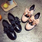 大碼文藝復古森女鞋秋新款日系瑪麗珍甜美蝴蝶結洛麗塔圓頭娃娃鞋 DN19266『科炫3C』