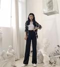 2019新款女復古氣質顯瘦高腰大長腿西裝褲女拖地長褲休閒褲潮 超值價