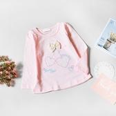 蕾絲櫻桃蝴蝶結竹節棉上衣 薄長袖 粉色 棉質 長袖上衣 女童 童裝 女童裝 女童長袖 女童上衣 秋冬