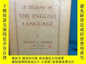 二手書博民逛書店A罕見History of the English Langua