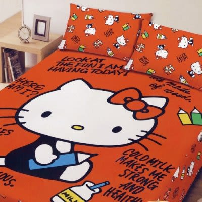 ☆Hello Kitty ☆凱蒂貓 搖粒絨刷毛單人床包兩件組-我的筆記本 台灣製造 品質有保障