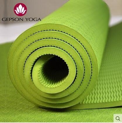 食尚玩家 瑜伽墊tpe無味6mm加厚瑜珈墊防滑健身愈加墊特價送背包