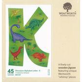 【拼圖總動員 PUZZLE STORY】恐龍字母-K 英國/WENTWORTH/45P/木質