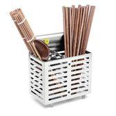 不銹鋼掛式筷子筒廚房創意瀝水筷籠韓式雙筒收納 DN2111【Pink中大尺碼】TW