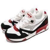 DIADORA 復古慢跑鞋 N9000 NYL 黑 白 麂皮鞋面 經典款 潮流時尚系列 運動鞋 女鞋【PUMP306】 DA160827C5750