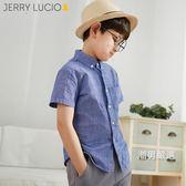 短袖襯衫男童襯衫短袖2018夏季新品中大童男孩襯衣兒童白襯衫棉質