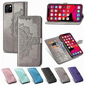 蘋果 iPhoneSE SE2 iPhone11 Pro Max 曼陀羅皮套 手機皮套 壓紋 插卡 支架 磁扣 掀蓋殼 保護套