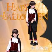 中大尺碼萬圣節兒童服裝cos吸血鬼伯爵角色扮演恐怖男孩套裝僵尸鬼的衣服 js10920『黑色妹妹』