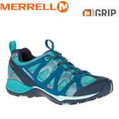 【MERRELL 美國 女款 SIREN HEX Q2 GORE-TEX《水藍》】ML15894/Gore-Tex襪套/Grip耐磨/EVA鞋墊★滿額送