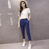 春夏新款韓版女裝顯瘦襯衫條紋短袖襯衣休閒潮流雪紡衫 超值價