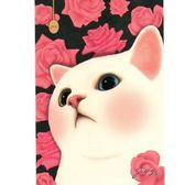 JETOY,Choo Choo 甜蜜貓第二代明信片_Lovely rose《Life Beauty》