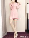 針織連身裙秋裝2020新款早春初秋女裝潮女神范法式氣質洋氣毛衣裙CL520【SWEET家居】