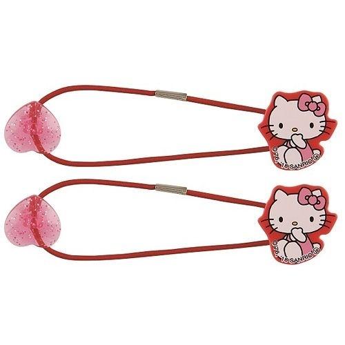 【震撼精品百貨】Hello Kitty 凱蒂貓~SKATER HELLO KITTY與愛心造型髮束組(一組兩個入)#42211