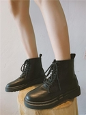 2019秋季新款馬丁靴女透氣學生黑色短靴女英倫風機車靴百搭復古潮