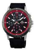 【時間光廊】ORIENT 東方錶 紅色 三眼錶 橡膠錶帶 全新原廠公司貨 FUY03003B