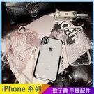 鑽石紋透明殼 iPhone iX i7 ...