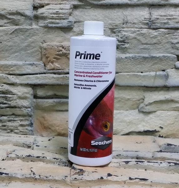 【西高地水族坊】美國原裝進口 西肯Seachem Prime 水質穩定劑(500ml)