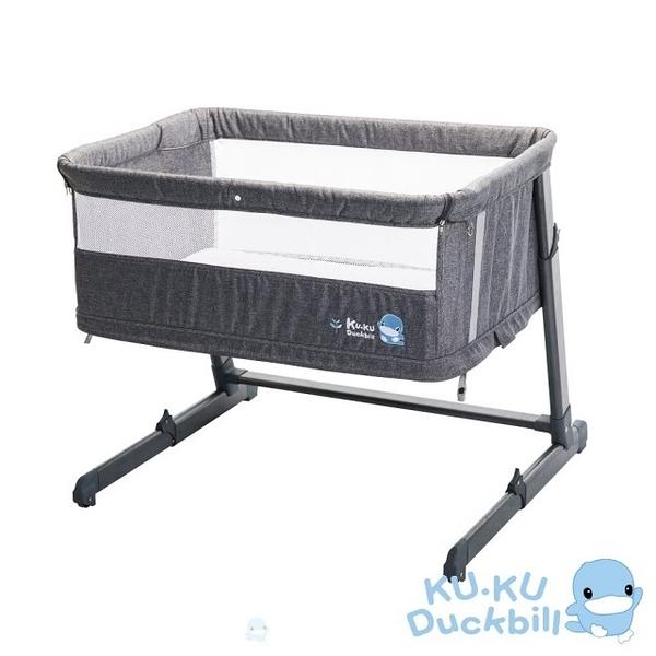 酷咕鴨 KUKU 北歐成長型床邊床/嬰兒床/遊戲床-個性灰