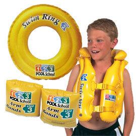 [衣林時尚] INTEX pool school 泳圈+手臂圈 + 背心 游泳圈 (3-6歲)  58231 + 56643 +58660