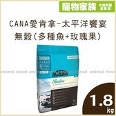 寵物家族-ACANA愛肯拿-太平洋饗宴挑嘴貓無穀配方(多種魚+玫瑰果)1.8kg