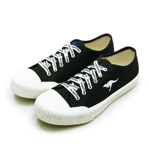 LIKA夢 KangaROOS 帆布厚底餅乾鞋 CRUST藍標系列 黑米 91260 男