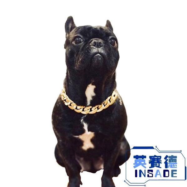 巴哥法斗狗狗惡霸金鏈子中小型犬項圈寵物項鏈飾品配飾